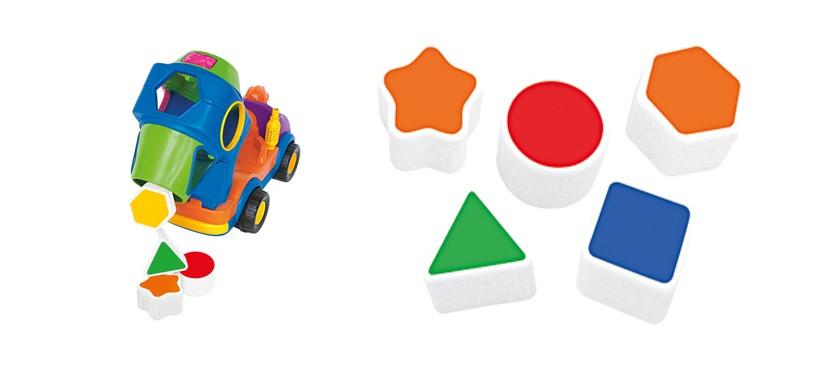 Hormigonera con formas geométricas