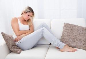 Mujer con embarazo ectópico