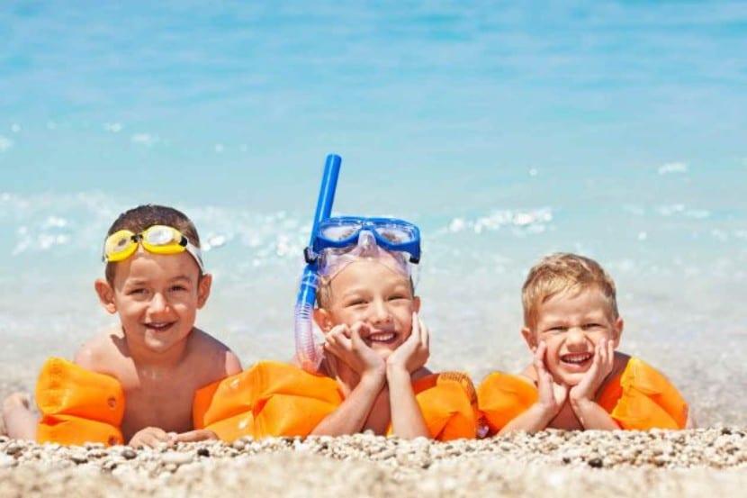 Quemaduras del sol en niños