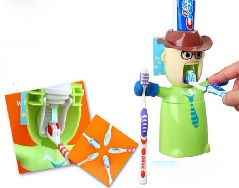 Dispensador de pasta de dientes vaquero