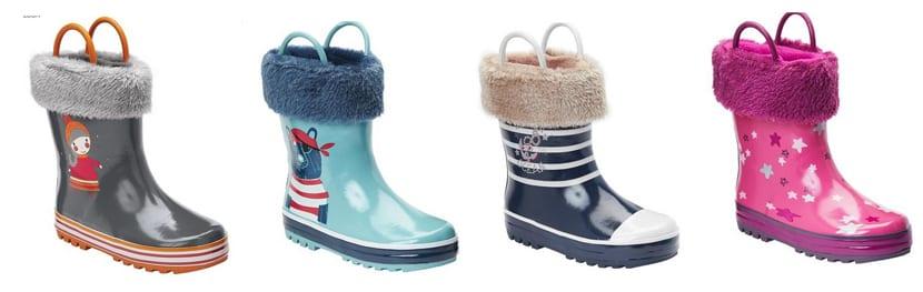 botas de agua para niños