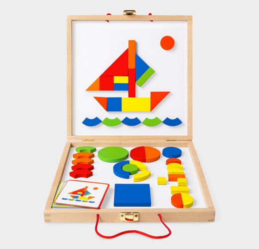 Puzzle con formas geométricas