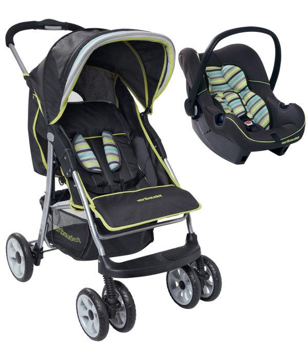 Combinado portabebés y silla de paseo americana Vertbaudet C