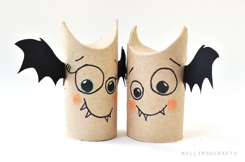 Manualidades para Halloween: Murciélago divertido