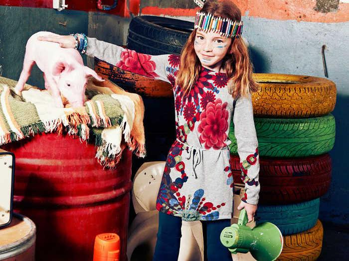 Nueva colección de moda infantil otoño-invierno 2014-2015 de Desigual 04