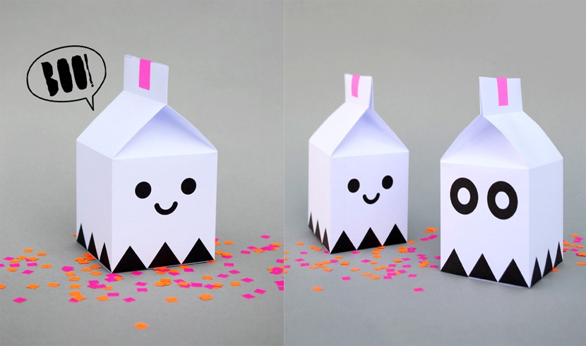 Cajas de fantasmas halloween