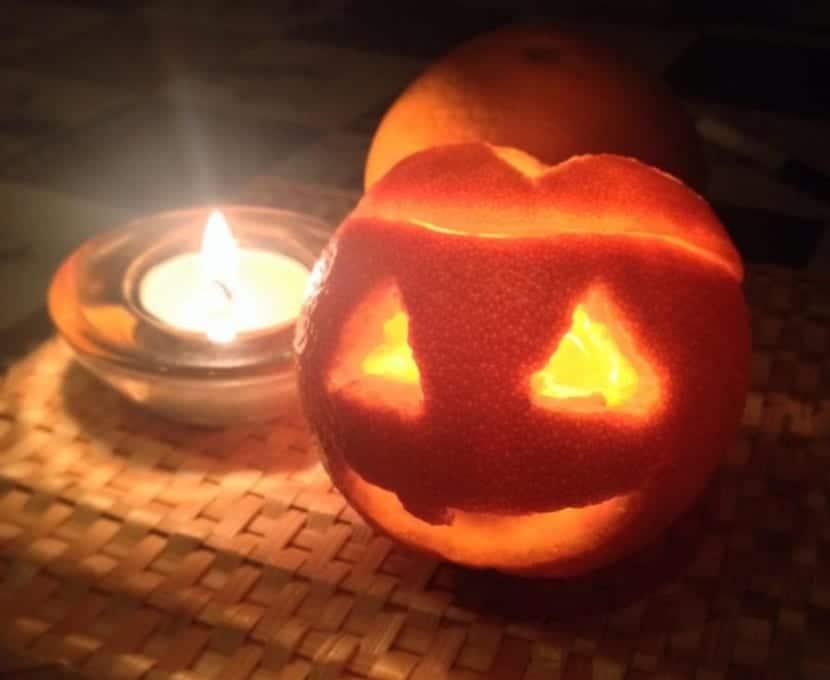 porta velas hallowen