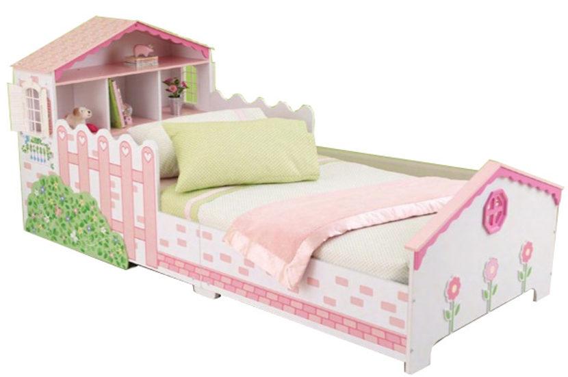 Cama infantil con casita de mu ecas de kidkraft - Cama casita infantil ...