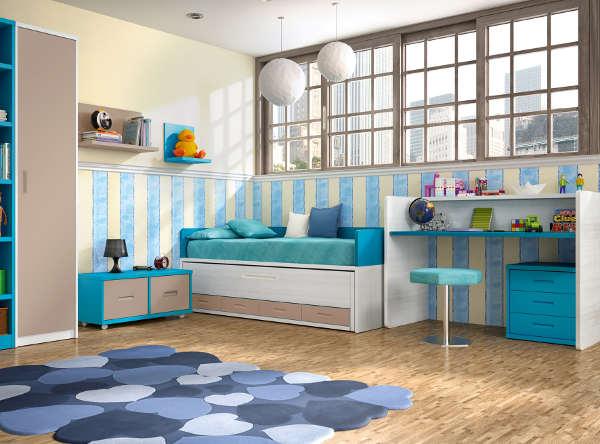 Ideas de decoración para habitaciones infantiles convertibles económicas 02