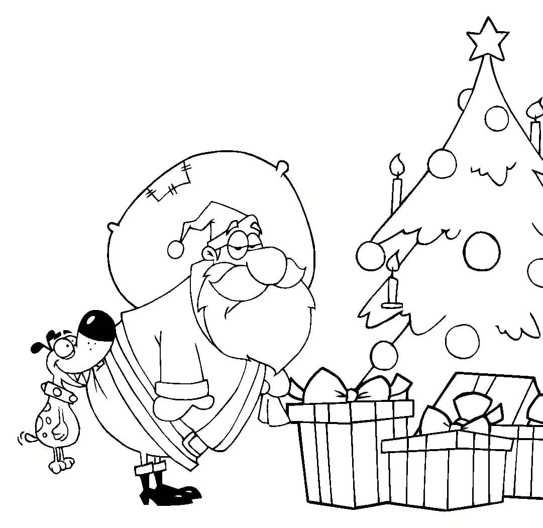 Fichas de Navidad para colorear