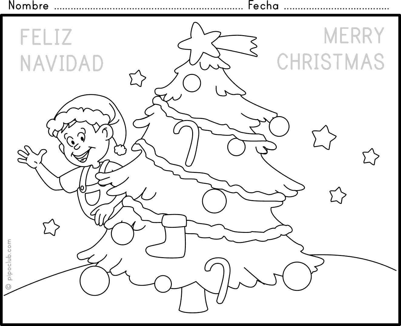 Excepcional Hojas De Actividades Para Colorear De Navidad ...
