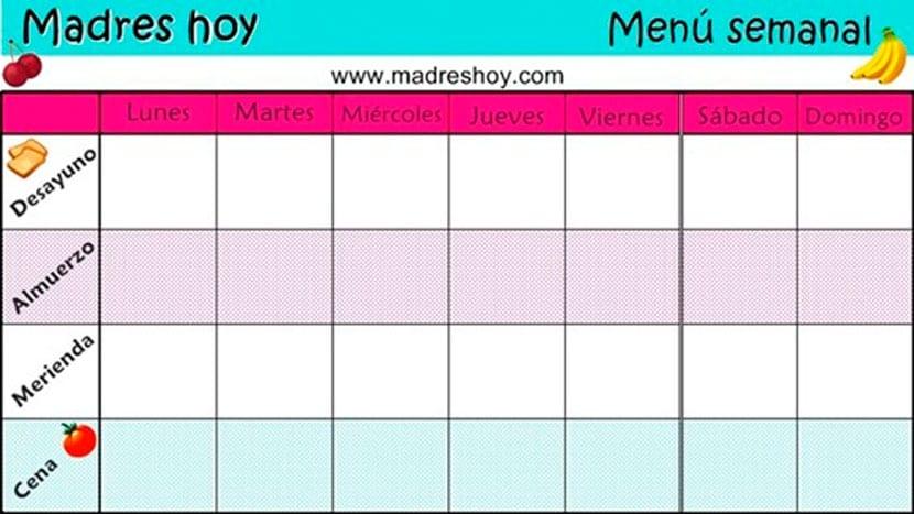 Menú de la semana Diciembre-Enero