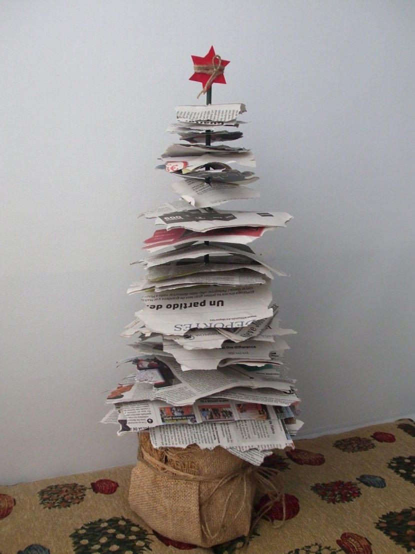 árbol de papel