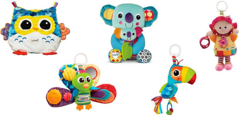 Juguetes blanditos y con texturas para bebés de Lamaze