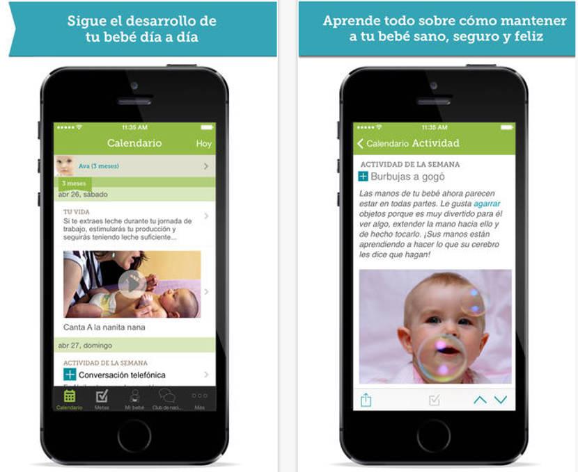 'Mi bebé día a día', una app para hacer un seguimiento diario del bebé