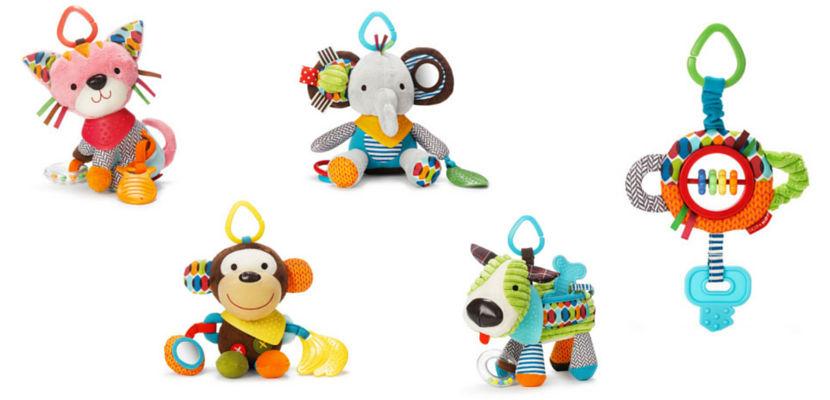 Muñecos blanditos y divertidos para bebés de Skip Hop