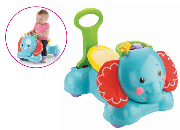 Elefante andador musical de Fisher Price