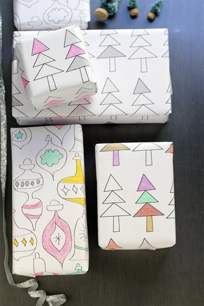 Imprimibles papel regalo