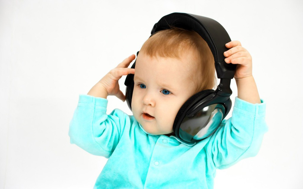 baby and head-phones