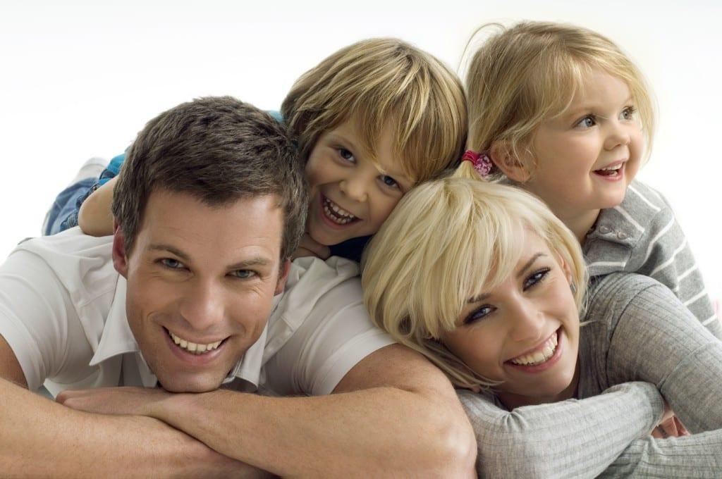 tiempo en familia feliz