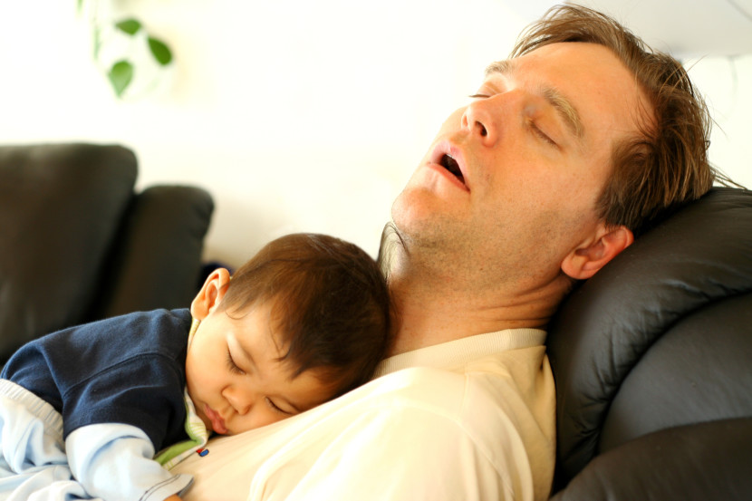 padre cansando