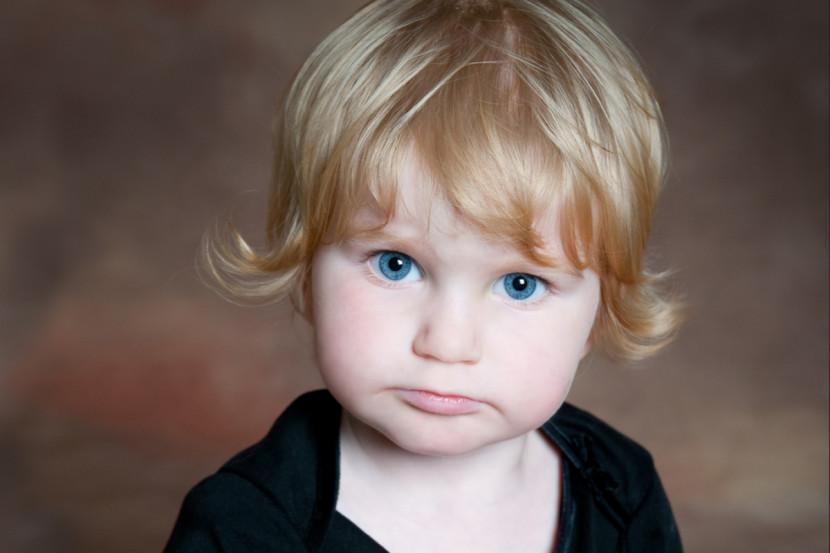 vision infantil ojos azules