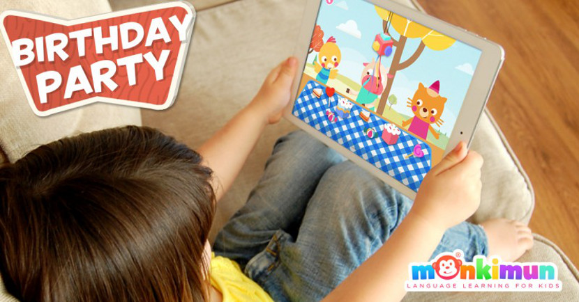 Monki Birthday Party, app infantil para aprender idiomas