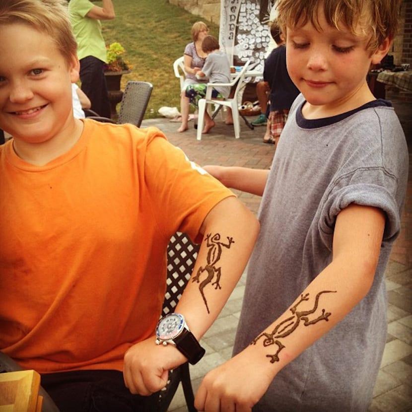 Tatuajes con henna negra