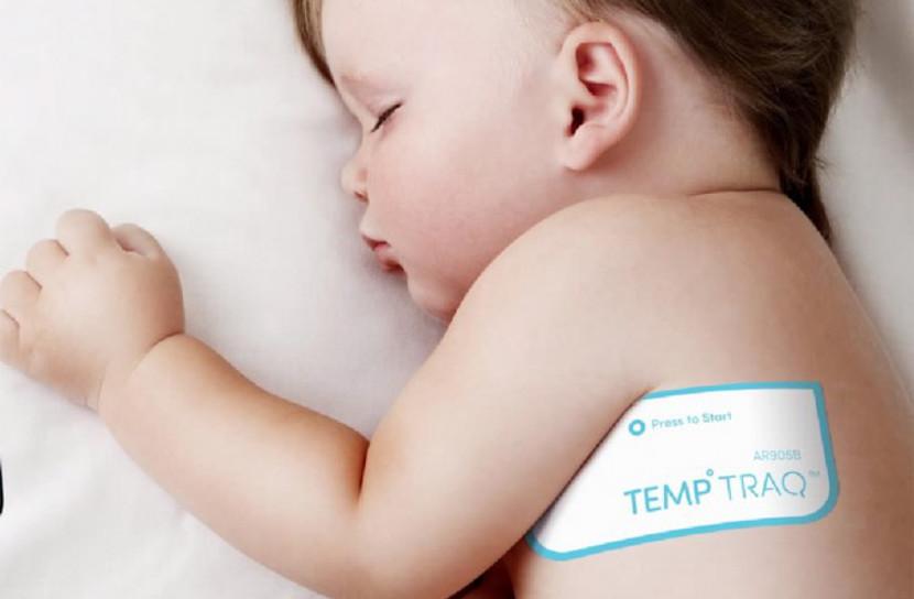 TempTraq, un termómetro con forma de parche que vigila la temperatura del bebé