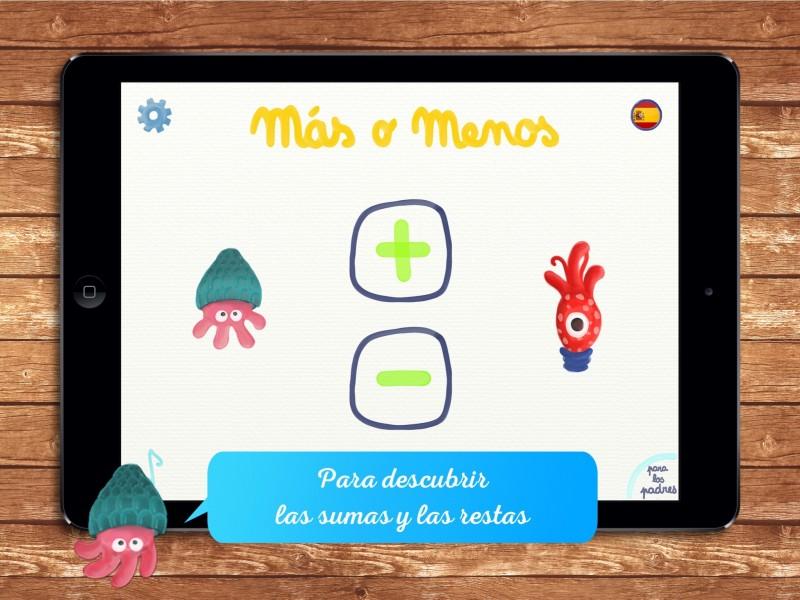"""""""Más o Menos"""", una app para iniciarse en la suma y la resta"""