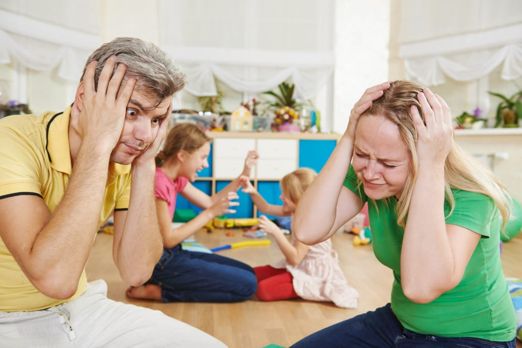 padres estresados
