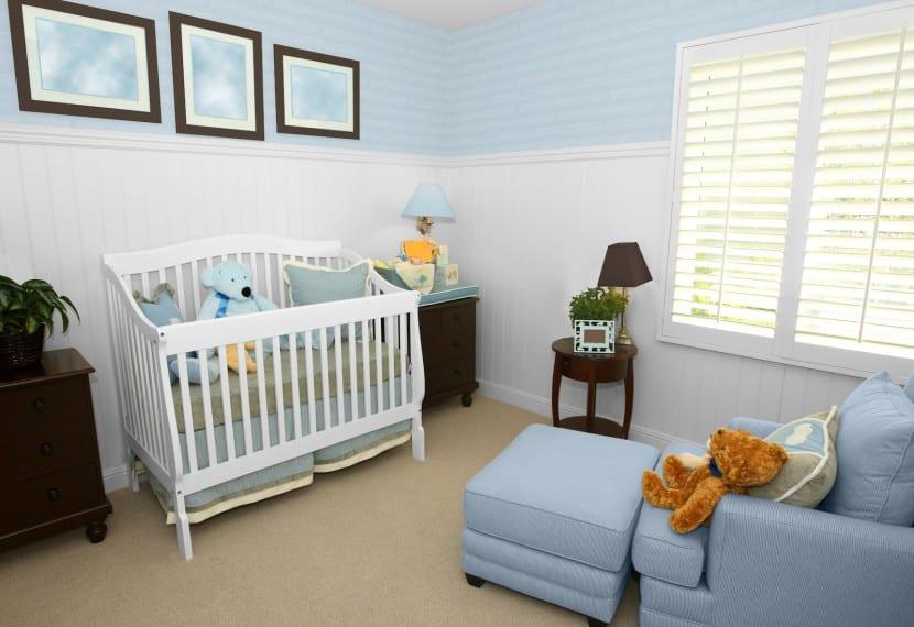 los colores en el dormitorio del bebé