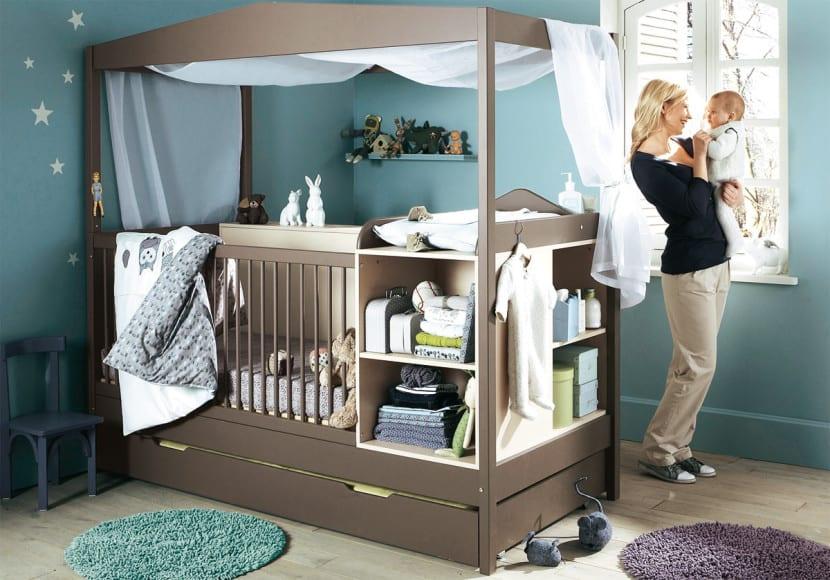 dormitorio bebe estilo minimalista