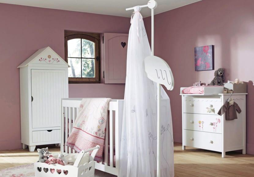 dormitorio bebe estilo provenzal