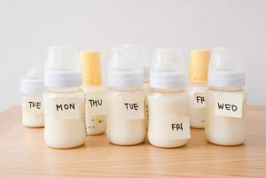 almacenar leche materna