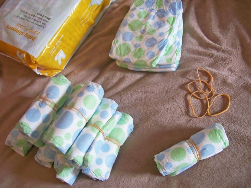 Materiales para hacer una tarta de pañales