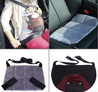 Mama embarazada segura en el coche