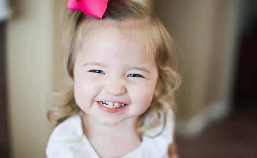 niña de dos años