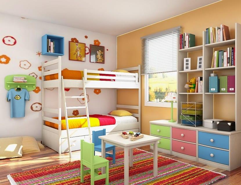 decorar el dormitorio con los hijos