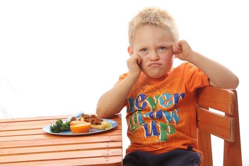 Cuando un niño no quiere comer