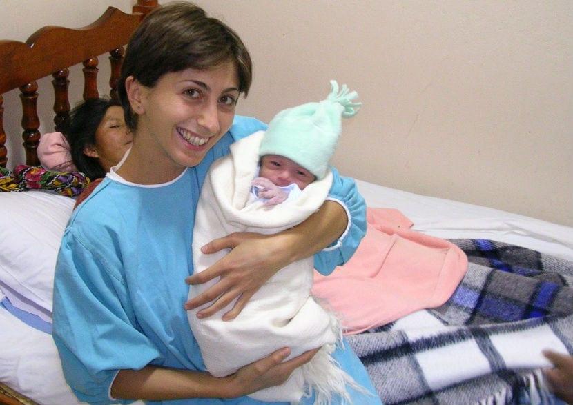 matrona y beb
