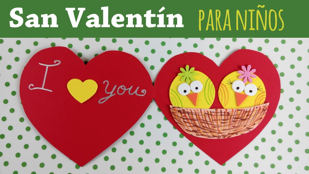 Tarjeta corazón de San Valentín para hacer con niños