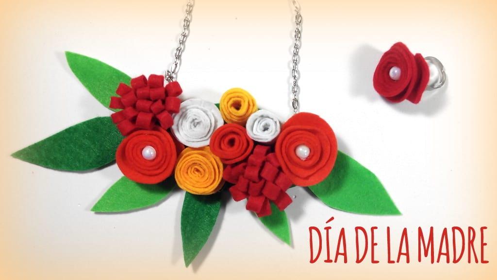 Manualidades Para El Dia De La Madre Collar Y Anillo De Flores