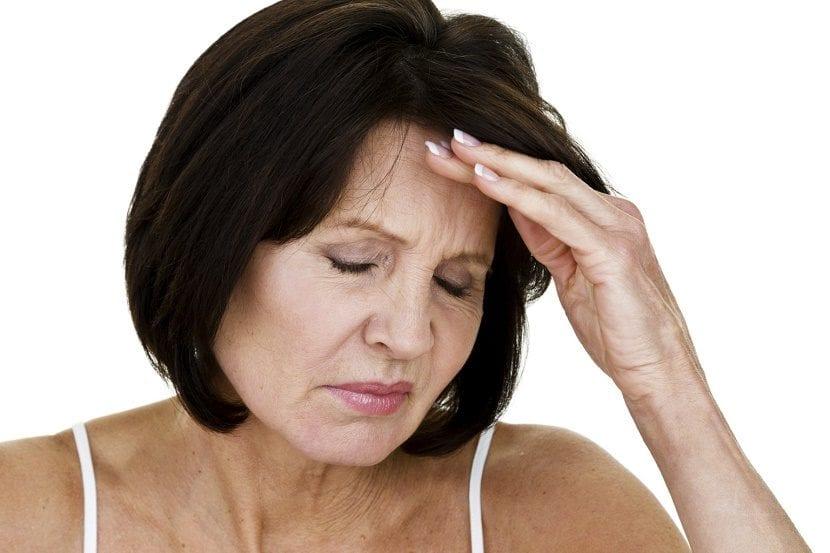 mujer con menopausia
