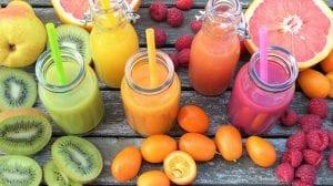 Zumos de frutas variados