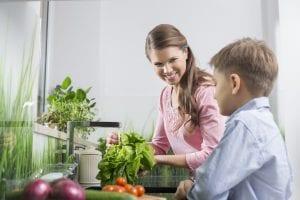 comer verduras para crecer sano