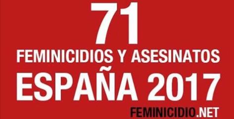 Feminicidios España 2017