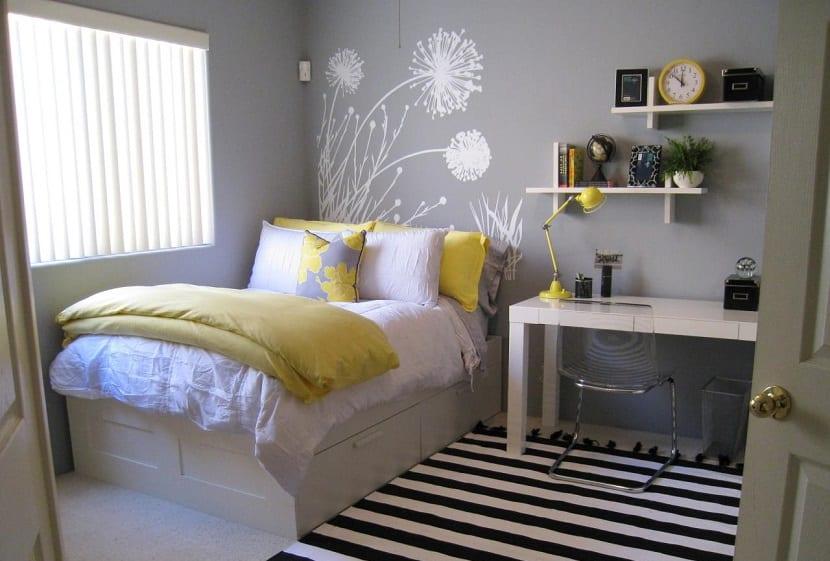 dormitorio adolescente en gris