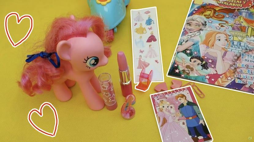 Vídeo de juguetes de frozen y la pequeña pony