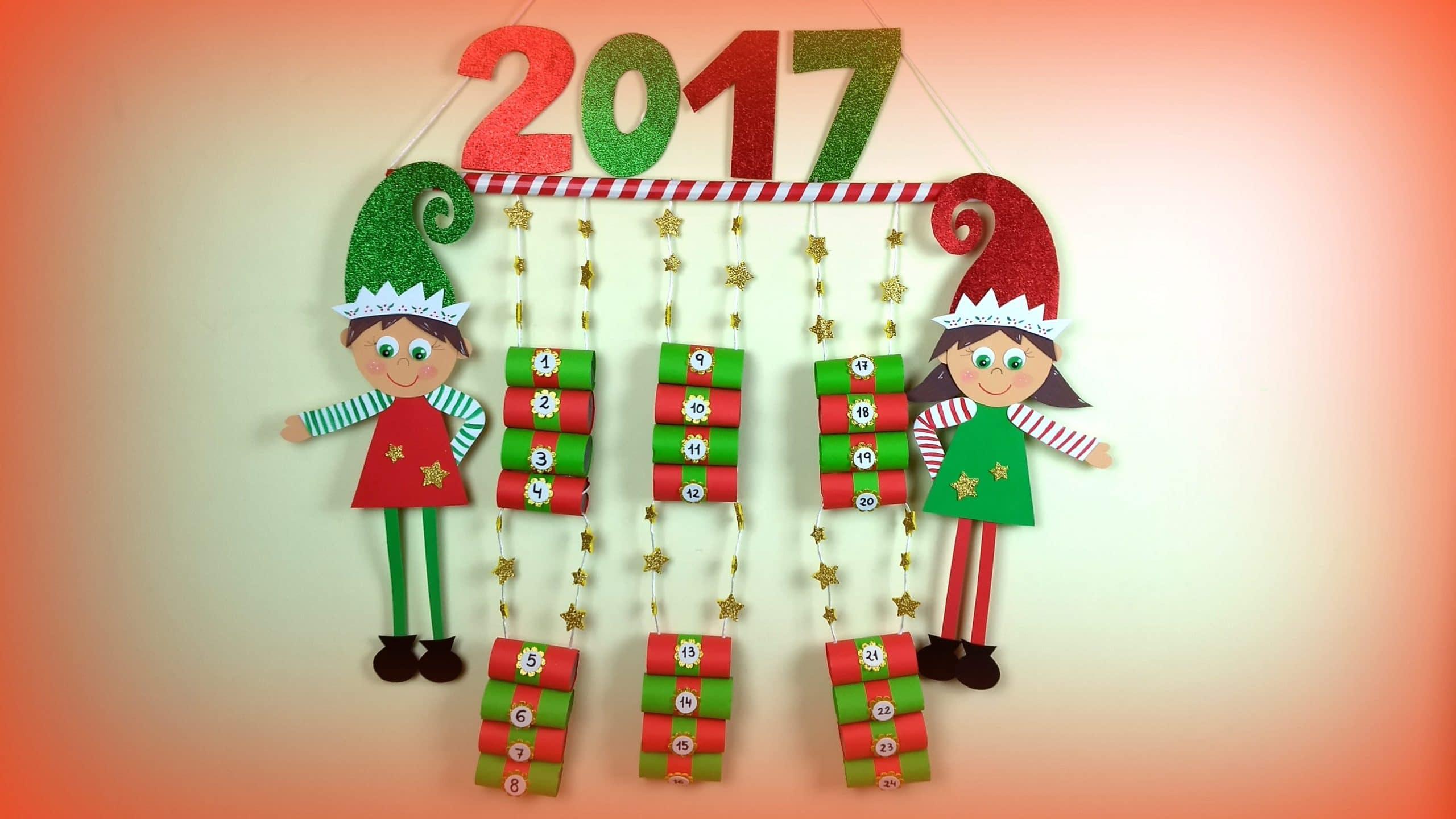Calendario De Adviento 2017 Con Material Reciclado - Calendario-de-adviento